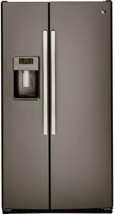 GSS23HMHES 33 Side-By-Side Refrigerator with 23.2 cu. ft. Capacity  Integrated Shelf Support System  Adjustable Shelves  Fresh Food Multi-level
