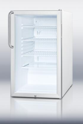 "SCR450LTBADA 32"" 4.1 cu. ft. Refrigerator With Glass Door  Factory Installed Lock  Professional Towel Bar Handle  Automatic Defrost  Interior Light &"