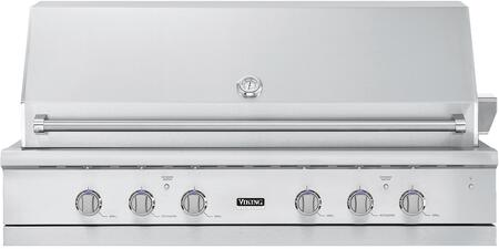 "VGIQ554241LSS Liquid Propane 54"""" Built-in Gas Grill with 950 sq. in. Cooking Area  3 Stainless Steel Burners  TruSear Infrared Burner and Rotisserie system in"" 695818"