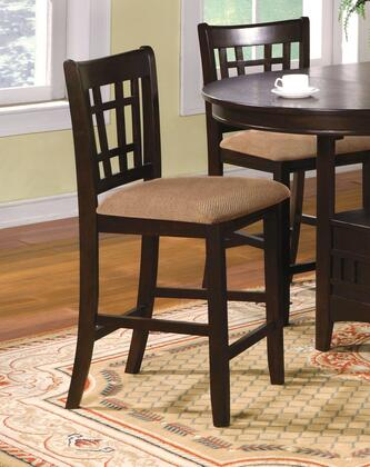 Metropolis Collection CM3032PC-2PK Set of 2 Counter Height Chair with Microfiber Padded Seat and Window Pane Back in Espresso