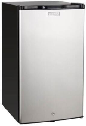 Fire Magic 3598 20 4.0 Cu. Ft. Compact Refrigerator Stainless Steel Door/Black Cabinet