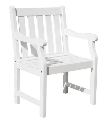 V1630 Bradley Eco-Friendly Outdoor Wood Garden Arm Chair