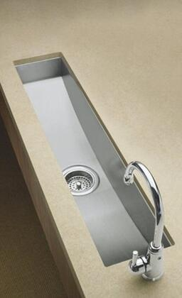 K-3188 Single Basin Stainless Steel Kitchen Sink from the Undertone Series: Stainless
