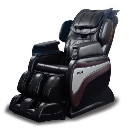 TI-8700 BLACK Massage Chair with 2 Staged Zero Gravity Massage  Lower Lumbar Heat  Hip and Seat Vibration  5 Pre-Set Programs  and Foot And Calf Air Massage in