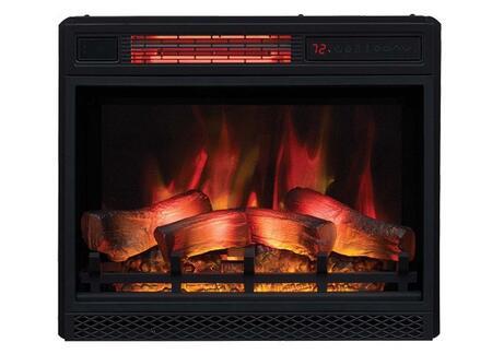 23II042FGL 24 inch  3D Infrared Quartz Electric Fireplace Insert with Safer Plug  Safer Sensor  5200 BTU and Traditional Log Set and Ember Bed