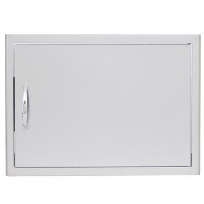 BLZ-SH-2417-R 28 inch  Horizontal Single Access Door with Rounded Bevel Design and Rounded Handle in Stainless