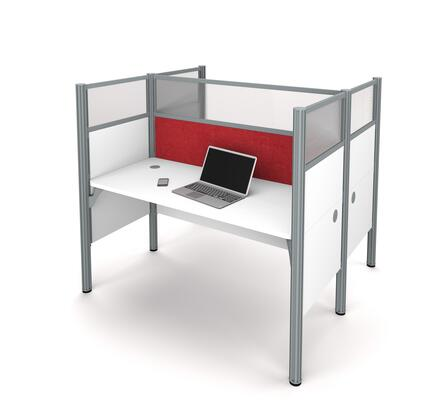 100870DR-17 Pro-Biz Double face to face workstation in White with Red Tack
