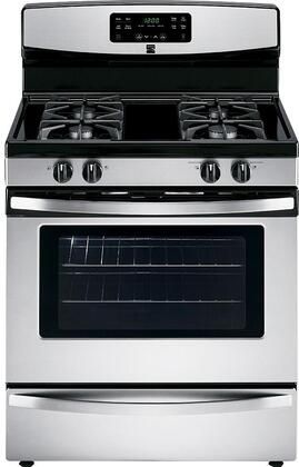 74033 30 Freestanding Gas Range with 4 Burners  5 cu. ft. Oven Capacity  Storage Drawer and Self-Cleaning Oven in Stainless