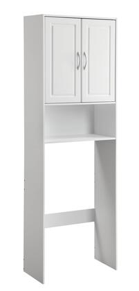 Trenton Collection 76421 24 inch  Double Door Cabinet Over the Toilet Space Saver with 1 Exterior Shelf and 1 Adjustable Interior Shelf in