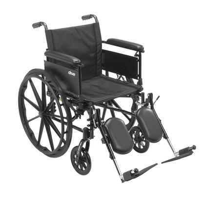 cx420adfa-elr Cruiser X4 Lightweight Dual Axle Wheelchair With Adjustable Detachable Arms  Full Arms  Elevating Leg Rests  20