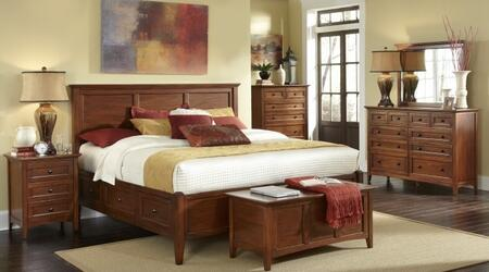 WSLCB5091Q4P Westlake 4-Piece Bedroom Set with Queen Sized Storage Bed  Dresser  Mirror and Single