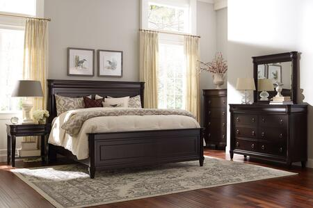 Aryell 4907ckpbntcdm 5-piece Bedroom Set With California King Panel Bed  Night Table  Chest  Dresser And Mirror In Cacao