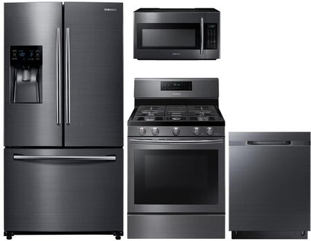 4 Piece Kitchen Appliance Package in Black Stainless