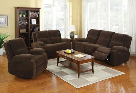Haven Collection CM6554-SLR 3-Piece Living Room Set with Motion Sofa  Motion Loveseat and Recliner in Dark