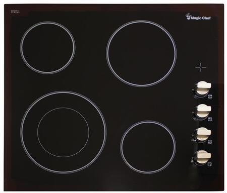 Magic Chef MCSCTE24BG 24 Radiant Electric Cooktop with 4 Elements, Black