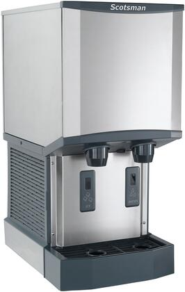 HID312A1 Meridian Ice Machine/Dispenser with Water Dispenser  H2 Nugget Ice  Air Cooled  Up To 260 Lbs. Production/24 Hour and 12 Lbs. Bin Storage