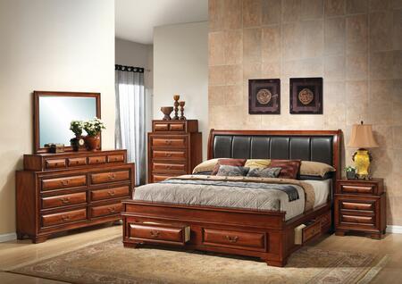 G8850C-FB3BDMNC 5-Piece Bedroom Set with Full Size Storage Bed + Dresser + Mirror + Sinlge Nightstands + Chest  in