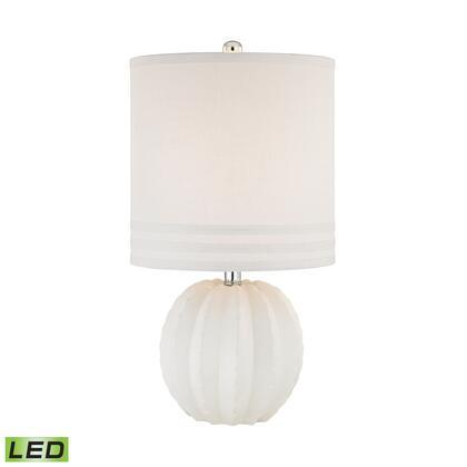 D2908-LED Seychelles 1 Light LED Table Lamp in White