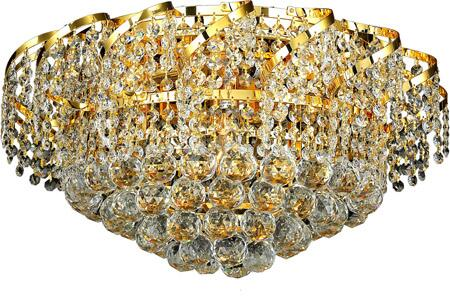 VECA1F20G/EC Belenus Collection Flush Mount D:20In H:12In Lt:8 Gold Finish (Elegant Cut