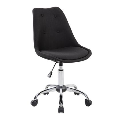 RTA-K460-BK Techni Mobili  Armless  Task Chair with Buttons. Color:
