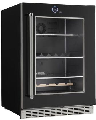 Danby SRVBC050R Silhouette Series 24 Inch 5 cu. ft. Capacity Built In Beverage Center with 3 Shelves Including Wine Racks, in Black