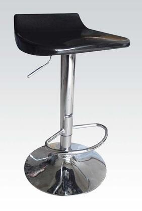 Sybill Collection 17735 27 inch  - 35 inch  Adjustable Air Lift Stools with Low Back Seat  Durable Construction and Chrome Foot Rest in