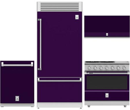 4-Piece Purple Kitchen Package with 36