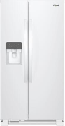 WRS335SDHW 36 inch  Side-by-Side Refrigerator with 25 cu. ft. Total Capacity  LED Interior Lighting  Energy Star Certified  Spillproof Glass Shelves  Adaptive
