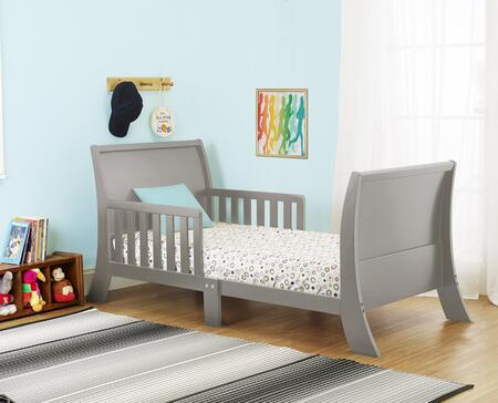 Louis Philippe Collection 416G 53 inch  Toddler Bed with Two Side Safety Rails  Curved Headboard & Footboard and Solid Wood Construction in