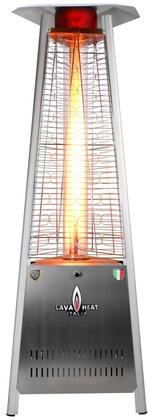 LHI-104 Liquid Propane Triangular 6 ft. Tall Commercial Flame Patio Heater with 42 000 BTU Power Rating  5 ft. Heat Radius and Safety Tilt Switch in Stainless