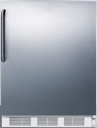 FF6BISSTBADA 24 inch  ADA Compliant Compact Refrigerator with 5.5 cu. ft. Capacity  Adjustable Shelves  Crisper  Door Storage and Interior Lighting: Stainless Steel