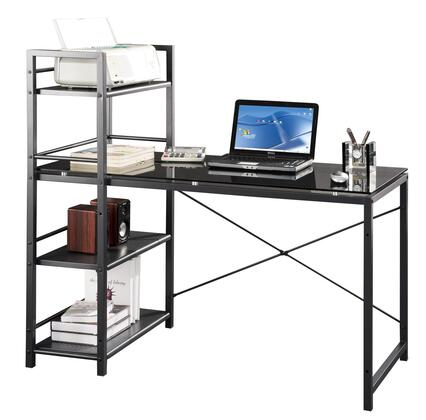 RTA-7337-GLS Techni Mobili Glass Desk with Built-in