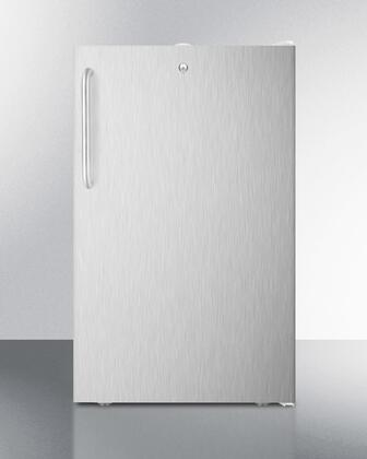 FS407LBISSTB 20 inch  Built-in Undercounter All-freezer with 2.8 cu.ft. Capacity  Door Lock and Adjustable Thermostat: Stainless Steel Door with Towel Bar