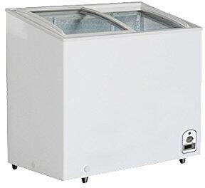 MXH10.6C Maxx Cold X-series Display Freezer with 917 cu. ft.  Recessed Sliding Door Handle  Aluminum Interior  White Exterior   Light  Temperature Display