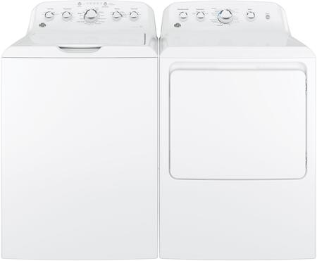 Top Load Speed Wash GTW460ASJWW 27 Washer with Front Load GTX42GASJWW 27 Gas Dryer Laundry Pair in