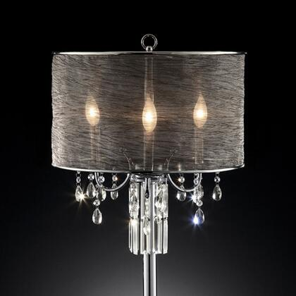 Gina L95127T Table Lamp with Metal base  Sheer shade size: 17