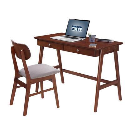 RTA-3602ST-MAH Techni Mobili Modern Desk with storage and Chair Set. Colors: Mahogany