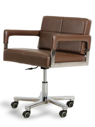 Vgwcalaska-off-chair-brn Modrest Alaska Modern Brown Leatherette Office