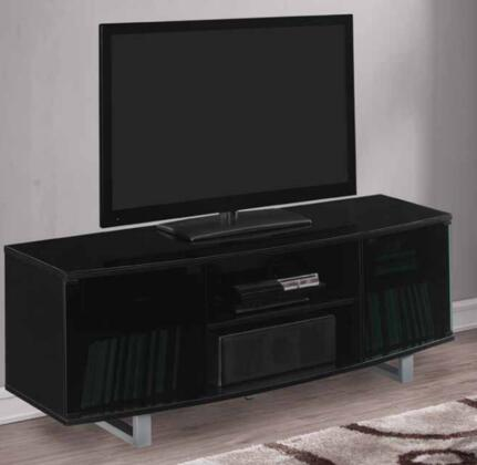 TC60-9616-NB03 60 inch  Console with Open Center Shelves  Easy to Follow Instructions and CMS Cable Management in High Gloss