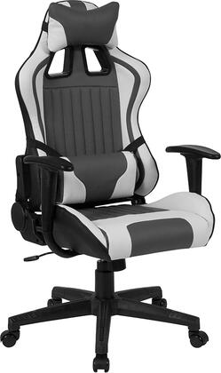 CH-CX1063H-GG Cumberland Comfort Series High Back Gray And White Executive Reclining Racing/Gaming Swivel Chair With Adjustable Lumbar Support 26