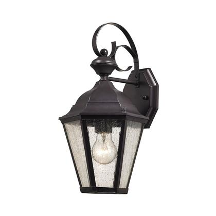 8901EW/75 Cotswold 1 Light Exterior Wall Lamp In Oil Rubbed