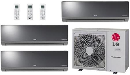 LMU30CHVPACKAGE8 Triple Zone Mini Split Air Conditioner System with 36000 BTU Cooling Capacity  3 Indoor Units  and Outdoor 704155