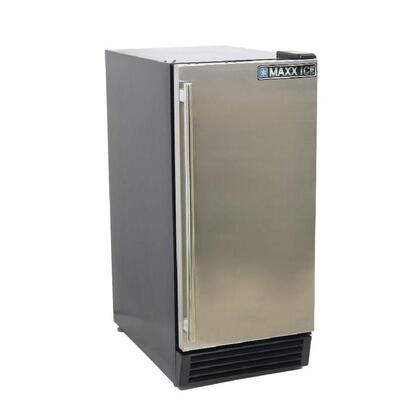 "MCR3U 15"" Indoor Refrigerator with Stainless Air-Cooled Condenser  Reversible Door Hinge  Built-In or Freestanding Installation and Full Stainless Steel"
