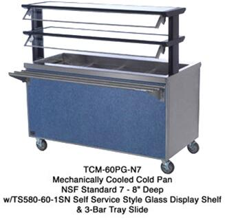TCM46SSN7 46 inch  Thurmaduke Cold Pan Serving Counter with 16 Gauge Stainless Steel Top  20 Gauge Stainless Steel Body  and 5 inch