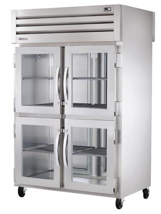 STG2RPT-4HG-2S Spec Series Two-Section Pass-Thru Refrigerator with 56 Cu. Ft. Capacity  LED Lighting and Glass Half Front and Solid Rear