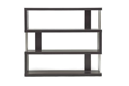 FP-3D Baxton Studio Barnes Three-Shelf Modern Bookcase  In Dark