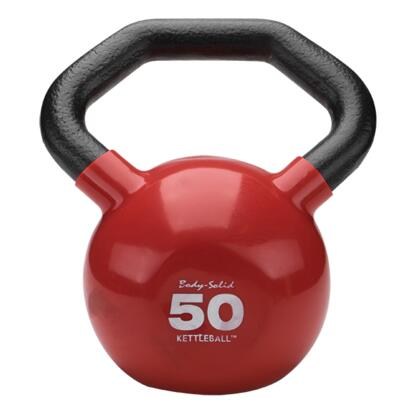 KBL50 Cast Iron Kettleball with Angled Handle and Vinyl Coating  50