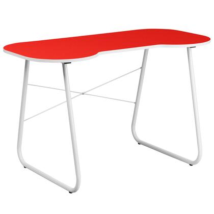 NAN-JN-2360-RED-GG Red Computer Desk with White