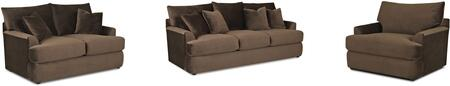 Findley Collection K56830KL3PCSTLARMKIT1 3-Piece Living Room Sets with Stationary Sofa  Loveseat and Living Room Chair in Challenger