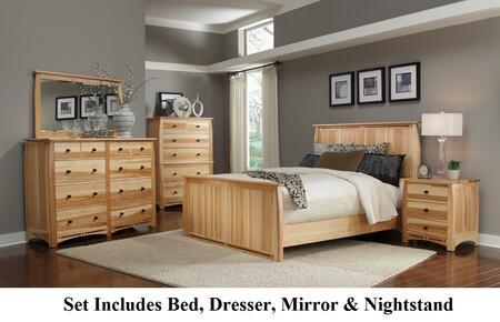 ADANT5070KIT Adamstown 4 Piece Bedroom Set with Queen Sized Panel Bed  Dresser  Mirrror  and